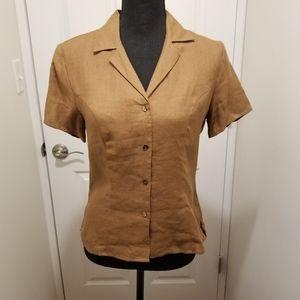 Banana Republic 100% linen blouse Size S